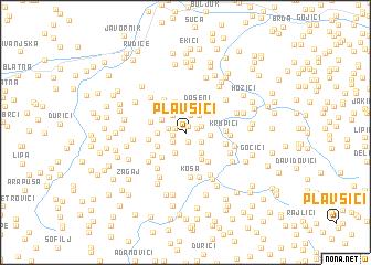 map of Plavšići