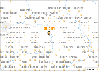 map of Plavy