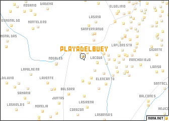 map of Playa del Buey