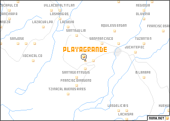 map of Playa Grande
