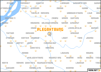 map of Ple-gahtawng