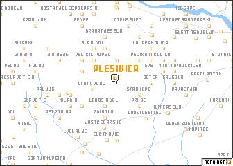 map of Plešivica