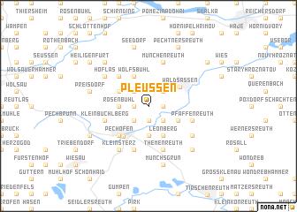 map of Pleußen