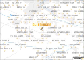 map of Plieningen