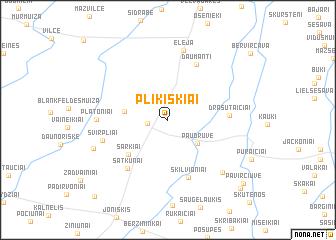 map of Plikiškiai