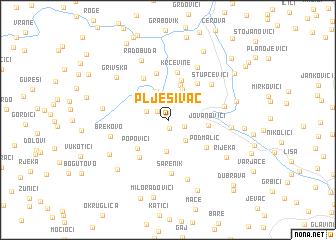 map of Plješivac