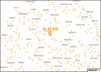 map of Pločnik
