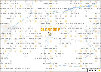 map of Plosdorf