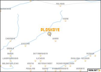 map of Ploskoye