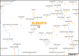 map of Ploskoye