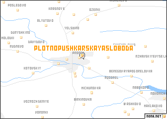 map of Plotno-Pushkarskaya Sloboda