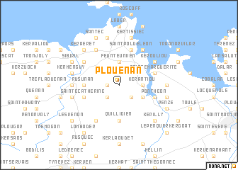 map of Plouénan