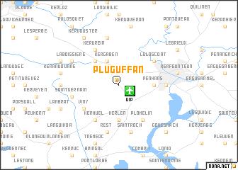 map of Pluguffan