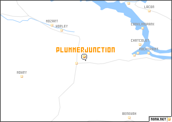 map of Plummer Junction