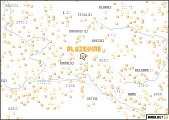 map of Pluževine