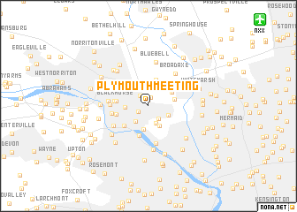 map of Plymouth Meeting