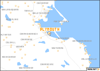 regional and 3d topo map of Plymouth, United States - USA ::