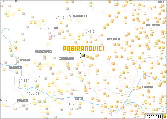 map of Pobiranovići