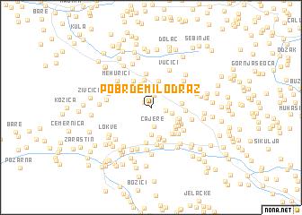 map of Pobrđe Milodraž