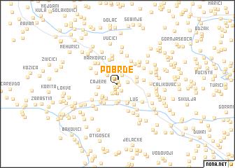 map of Pobrđe