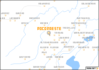 Pocora Este Costa Rica map nonanet