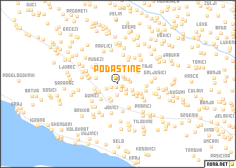 map of Podastine