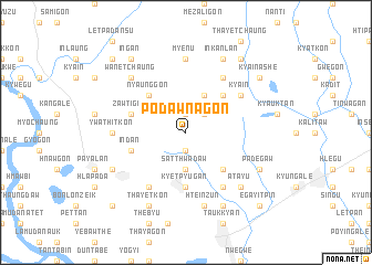 map of Podawnagon