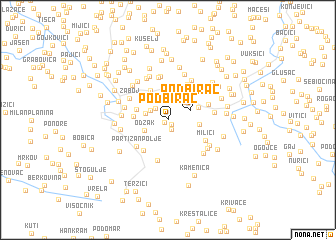 map of Podbirač