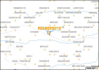 map of Podborov\