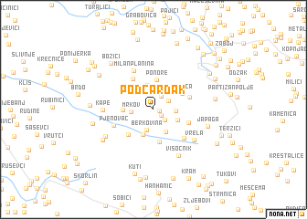 map of Podčardak