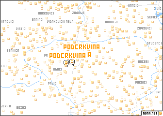 map of Podcrkvina