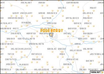 map of Poděbrady