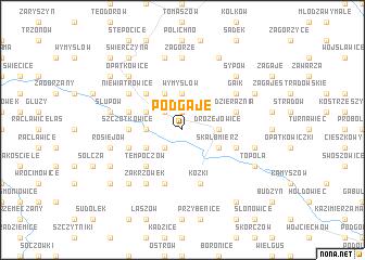 map of Podgaje