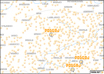 map of Podgaj