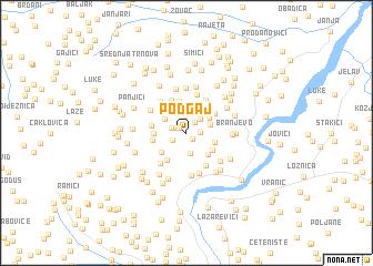 map of Podgaj