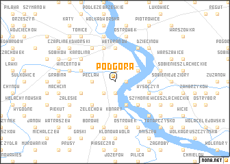 map of Podgóra