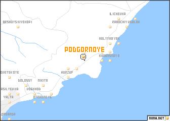 map of Podgornoye
