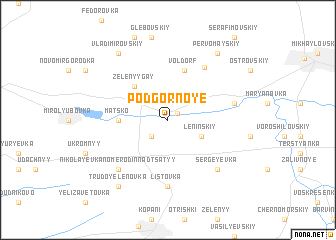 map of Podgornoye