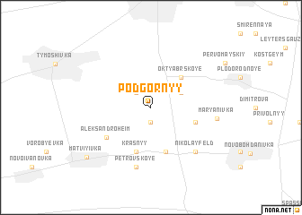 map of Podgornyy