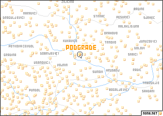 map of Podgrađe