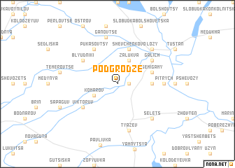 map of Podgrodze