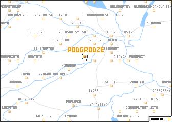 map of Podgrodze