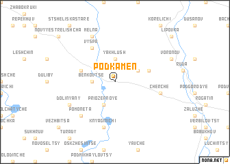 map of Podkamen'