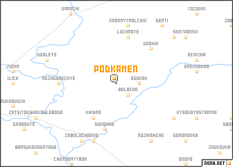 map of Podkamen'