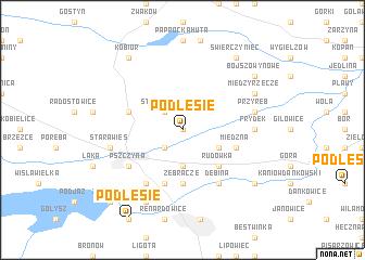 map of Podlesie