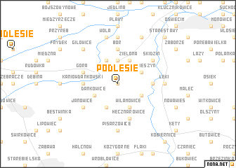 map of Podlesie