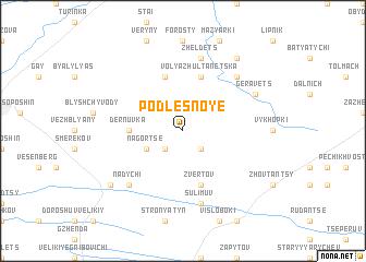 map of Podlesnoye