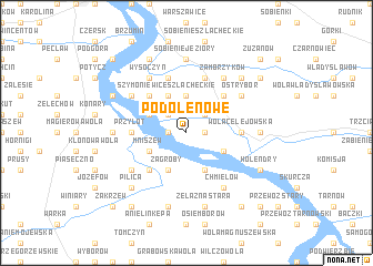 map of Podole Nowe