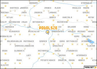 map of Podolsze