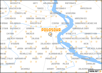 map of Podosowa